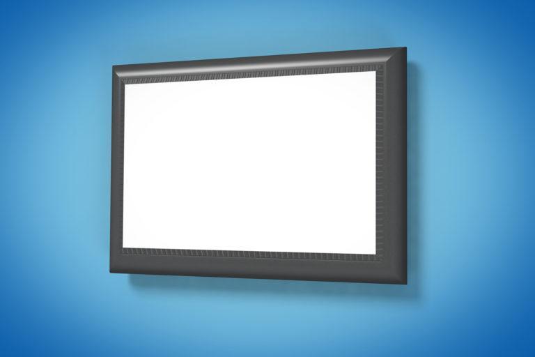 Надувной пристенный экран