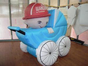 Надувная детская коляска