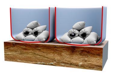 БАЛЛАСТОВАЯ СИСТЕМА, как закрепить надувной ангар, как закрепить пневмомодуль, крепление надувного ангара