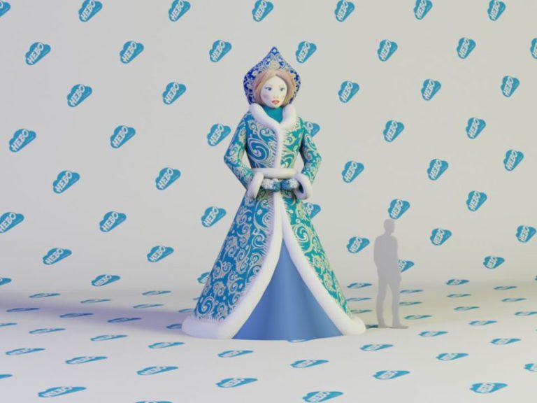 Надувная Снегурочка, Надувная Снегурочка Премиум, Новогодняя фигура снегурочка, надувная снегурочка и дед мороз, надувная снегурочка девушка