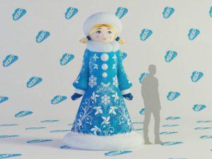 Надувная снегурочка, Надувная снегурочка внучка, новогодняя фигура снегурочка, новогодняя надувная фигура снегурочка, снегурочка, Новогодние надувные фигуры