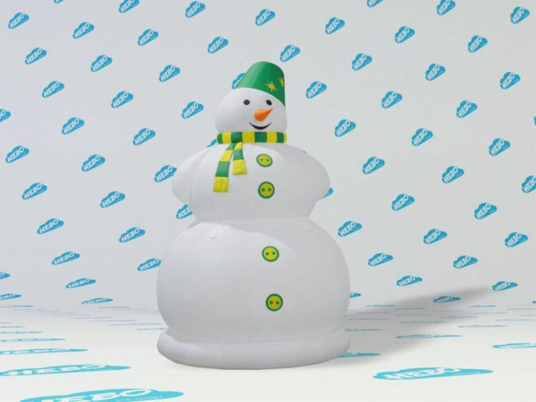 Новогоднийнадувнойснеговик, надувной снеговик, надувная фигура снеговик, новогодний декор снеговик, новогоднее украшение снеговик, Новый год, красивый снеговик