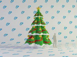 Надувная ель, Новогодние надувные фигуры, надувная ёлка, надувная ёлка для улицы,