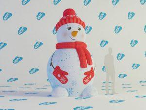 Надувная фигура Снеговик, новогодняя надувная фигура, , надувной снеговик для улицы, inflatable snowman, Надувной снеговик,