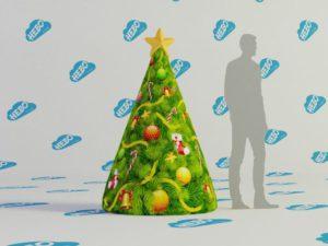 Надувная ёлка-конус, надувная ель, надувная ёлка, новогодняя надувная фигура ёлка, новогодние надувные декорации, Новогодние надувные фигуры