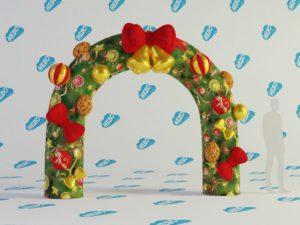 Новогодняя надувная арка, надувная арка, надувная арка старт финиш, надувная полукруглая арка, Новогодние надувные фигуры
