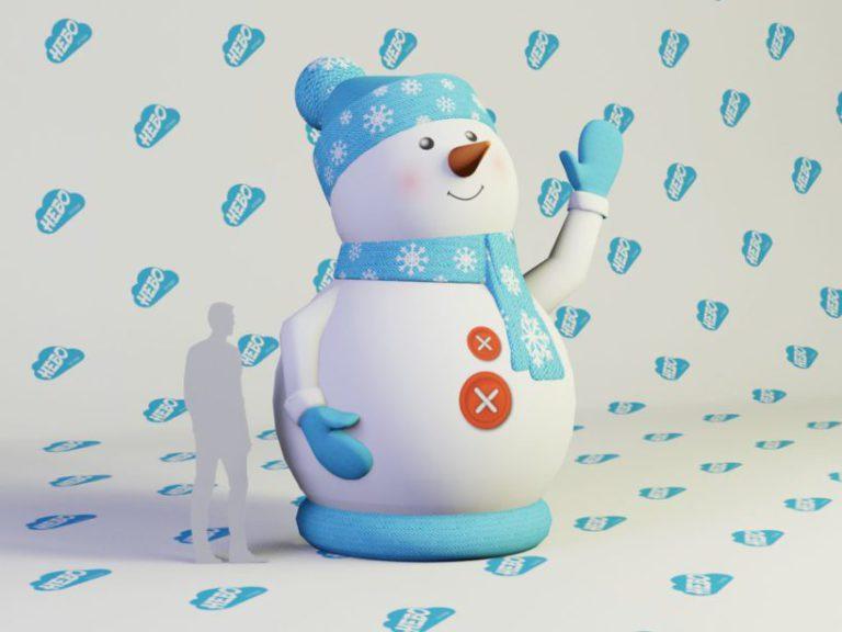 надувной снеговик для улицы, надувной снеговик, новогодняя фигура надувной снеговик, новогодняя надувная фигура, снеговик, новый год, Новогодние надувные фигуры