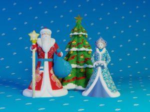 Надувные Дед Мороз, Снегурочка, Ёлка (Премиум) комплект
