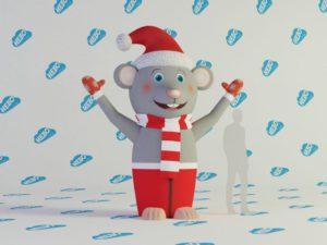 Надувная фигура МЫШЬ, надувной символ года, надувная крыса, надувная мышь, пневмофигура мышь, надувная голова мыши