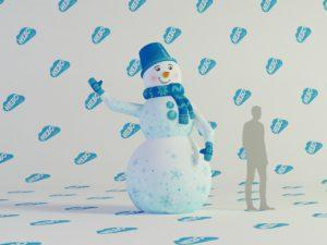 Надувной снеговик с машущей рукой, надувной снеговик, снеговик зазывала,надувной зазывала, надувная фигура снеговик, адувная фигура снеговик для улицы