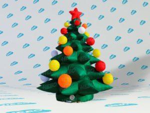 Новогодняянадувнаяёлка, надувная ёлка, надувная фигура елка, надувная ёлка для улицы, новогодние украшения для улицы, новогодний декор, Новогодние надувные фигуры