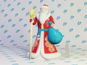 Новогодняя фигура Дед Мороз Премиум, надувной дед мороз, надувная фигура деда мороза, надувная голова деда мороза, новогодний надувной декор, Дед Мороз, Новогодние надувные фигуры