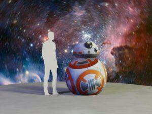 Надувная реклама, надувной дроид BB8 из Star Wars
