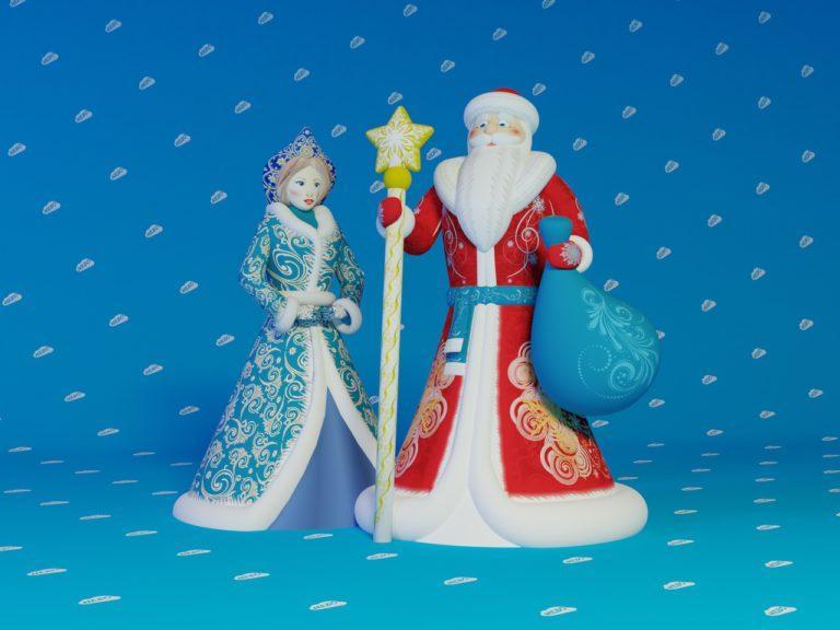 """Комплект """"Дед Мороз и Снегурочка"""" Премиум, новогодние надувные фигуры дед мороз, надувные фигуры, надувная снегурочка, надувной дед мороз, надувные фигуры оптом"""