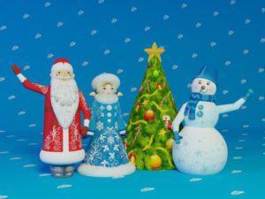 Надувные Дед Мороз, Снеговик, Снегурочка, Ёлка комплект, надувные фигуры для улицы, новогодние надувные фигуры, надувной дед мороз с машущей рукой, надувной снеговик зазывала, надувные зазывалы, надувная ёлка