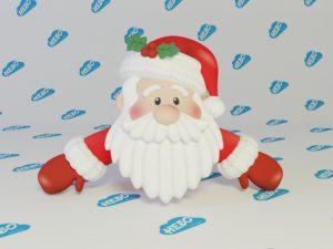 Надувная фигура голова Деда Мороза, надувная голова Санта Клауса, надувной Дед мороз, Новогодние надувные фигуры