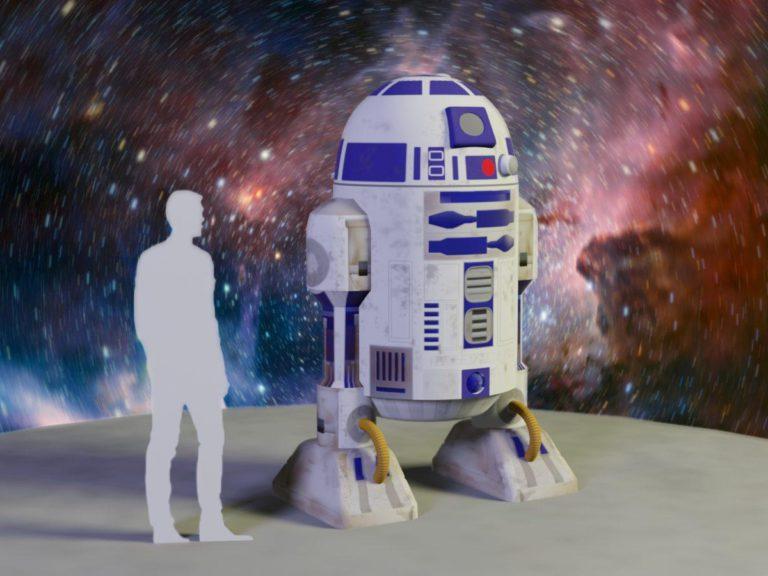 R2D2, дроид R2D2, надувные фигуры, надувная реклама, Звездные войны, Star Wars, надувные рекламные фигуры из звездных войн