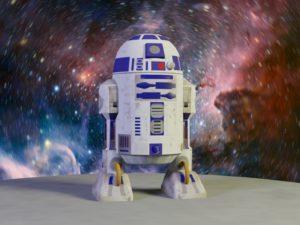 """R2D2, надувная фигура дроида из фильма """"Звездные войны"""""""
