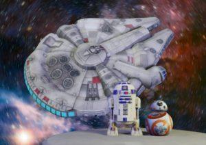 """Комплект фигур """"Звездные войны"""", Надувная реклама Star wars, надувной R2D2, надувной BB8, надувной Millennium Falcon, надувные фигуры"""
