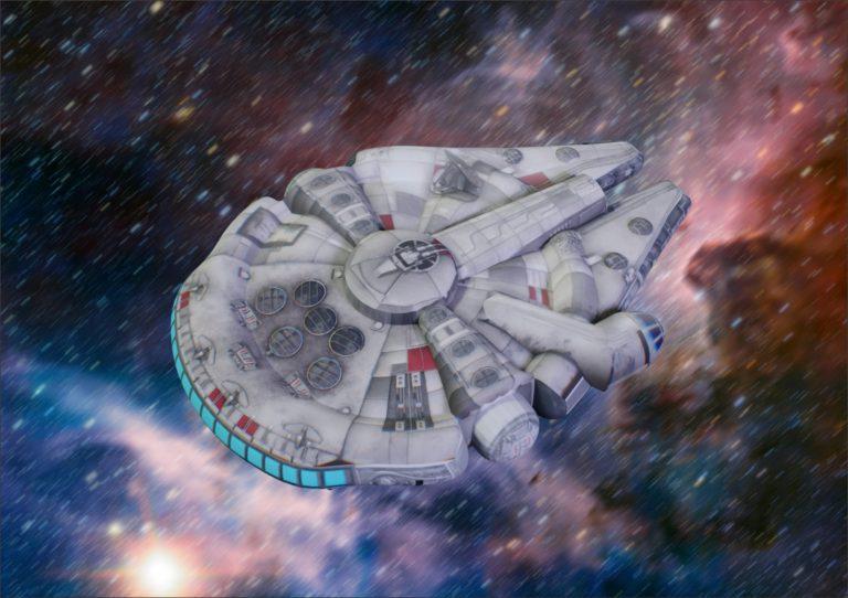 Тысячелетний сокол, сокол тысячелетия, millennium falcon, надувная фигура, надувная реклама, надувная рекламная фигура звездные воины, star wars, han solo, The Rise of Skywalker