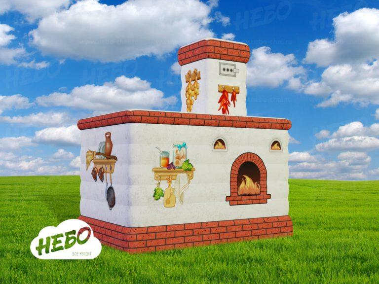 Надувная Печка, оформление на Масленицу, Надувная фигура, масленица, надувная реклама