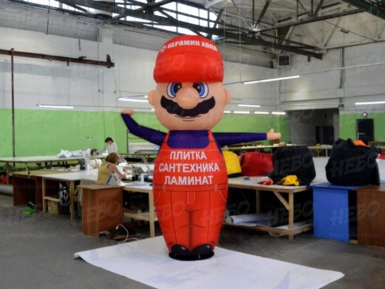 Надувная фигура с машущей рукой, надувной Строитель, надувной зазывала, пневмодинамическая фигура, рекламный зазывала