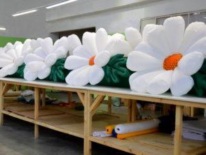 Надувная гирлянда Ромашки с эффектом раскрытия