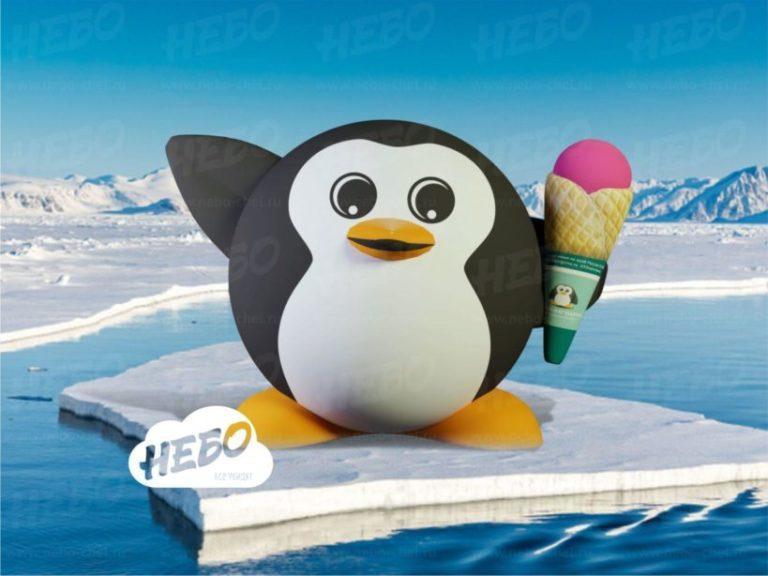 надувной пингвин, 33 penguins, 33 пингвина, надувной логотип, надувной бренд персонаж, компания небо