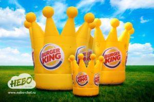 надувные логотипы, каталог, надувная корона, надувные бренд-персонажи, надувные короны бургер кинг, короны Burger King, надувные короны Burger King, надувные фигуры