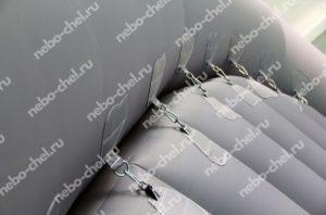 Надувной ангар для ремонта самолета, крепление