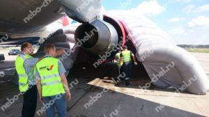 Надувной ангар для ремонта самолета, применение