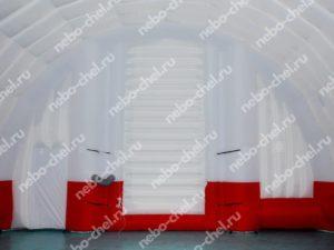 Надувной ангар – мобильный стационар, ворота изнутри