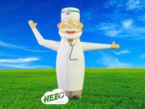 Надувной доктор, доктор смашущей рукой, доктор зазывала, машрук, рукомах, доктор в маске, доктор кто
