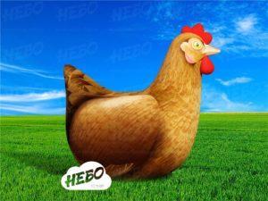 надувная курица, надувная фигура курица, курица для рекламы, реклама птицефермы, курочка ряба