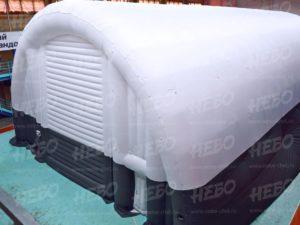 надувной ангар для склада, вид сзади