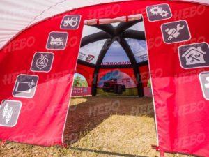 Палатка шестиопорная с герметичным пневмокаркасом, брендирование входной группы