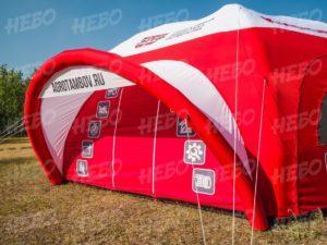 Палатка шестиопорная с герметичным пневмокаркасом, дверь под козырьком