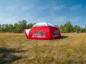 Палатка шестиопорная с герметичным пневмокаркасом и козырьком
