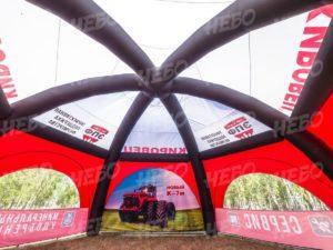 Палатка шестиопорная с герметичным пневмокаркасом, москитные сетки