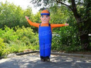 Рекламная фигура с машущей рукой, рукомах, аэромен, надувной зазывала, двусторонняя надувная фигура,