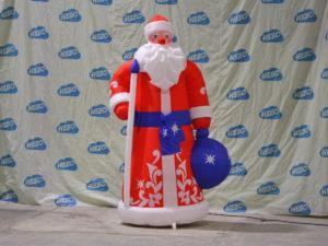 Надувной Дед Мороз с мешком подарков