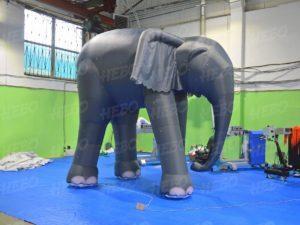 надувной слон, как слониха упала с неба, надувной реквизит для театра, реквизит, надувные фигуры,