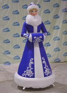 Новогодняя надувная фигура Снегурочки
