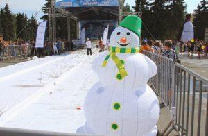 Новогодний надувной снеговик