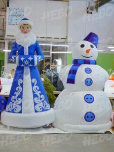 пневмофигуры снегурка и снеговик