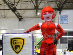 Надувная девушка робот, рекламная фигура