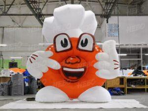 Надувной пончик, Рекламная фигура пончик, Надувной маскот, бренд персонаж, персонаж бренда, надувная фигура
