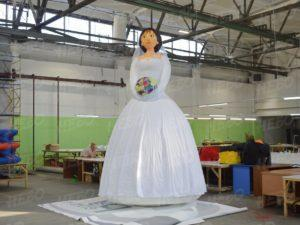 Надувная фигура Невеста, аэрофигура, надувная невеста, надувная девушка, надувная кукла невеста