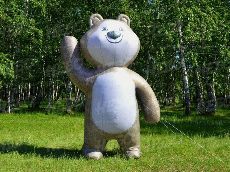 надувной медведь, надувная фигура медведь, аэрофигура медведь, надувной мишка, пневмомедведь