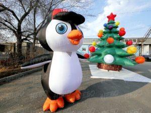 Карнавальный надувной костюм пингвин